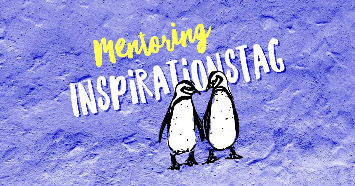 Illustration zum Inspirationstag: Handlettering und zwei Pinguine